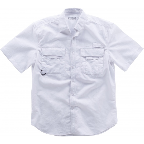 Comprar Camisa safari manga corta B8510 Blanco online bataro 1