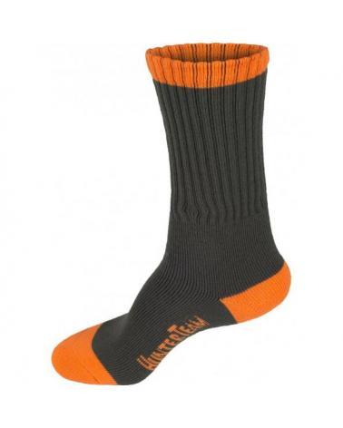Comprar Calcetines de caza Pack 3 pares Verde Caza+Naranja AV online bataro detras