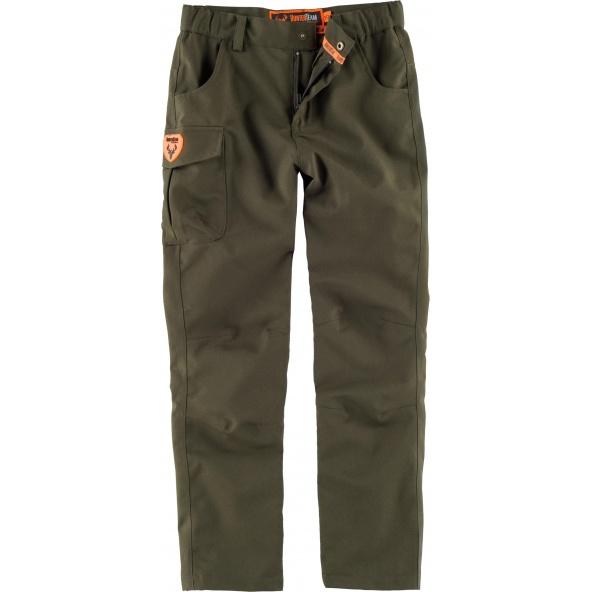 Comprar Pantalón de caza impermeable para niño Verde Caza online bataro delante