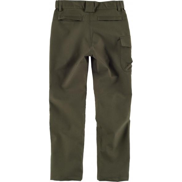 Comprar Pantalón de caza impermeable para niño Verde Caza online bataro detras