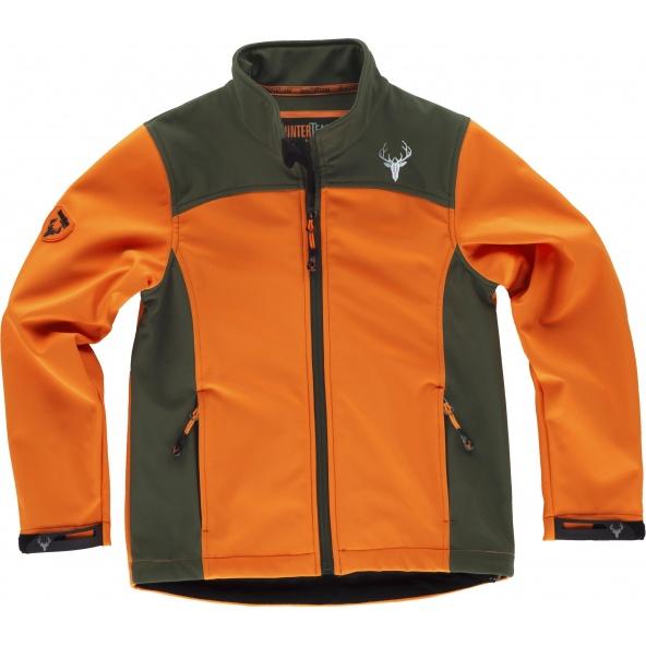 Comprar Chaqueta infantil de caza S8130 Naranja AV/Verde Caza online bataro delante