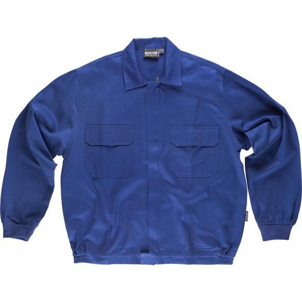 Comprar Cazadora de trabajo algodon B1152 Azulina workteam delante
