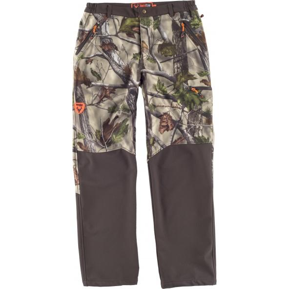 Comprar Pantalon Workshell de camuflaje S8365 Camuflaje Bosque Verde+Marrón online bataro delante