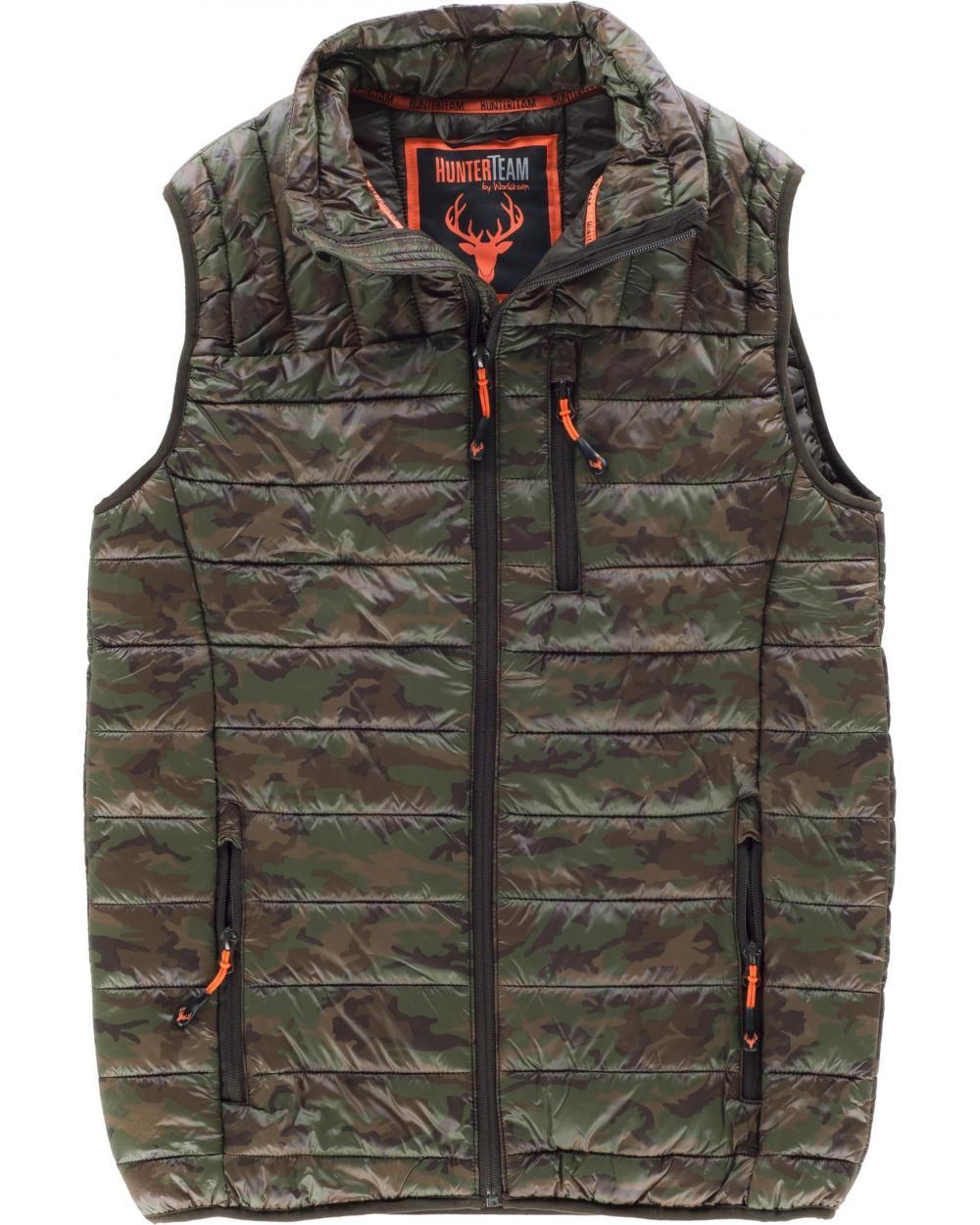 Comprar Chaleco acolchado de camuflaje S8540 Camuflage Marron online bataro delante