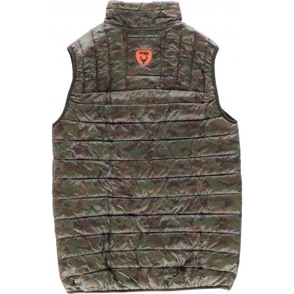 Comprar Chaleco acolchado de camuflaje S8540 Camuflage Marron online bataro detrás