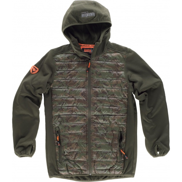 Comprar Chaqueta de camuflaje con capucha S8550 Verde Caza+Camuflage Marron online bataro delante