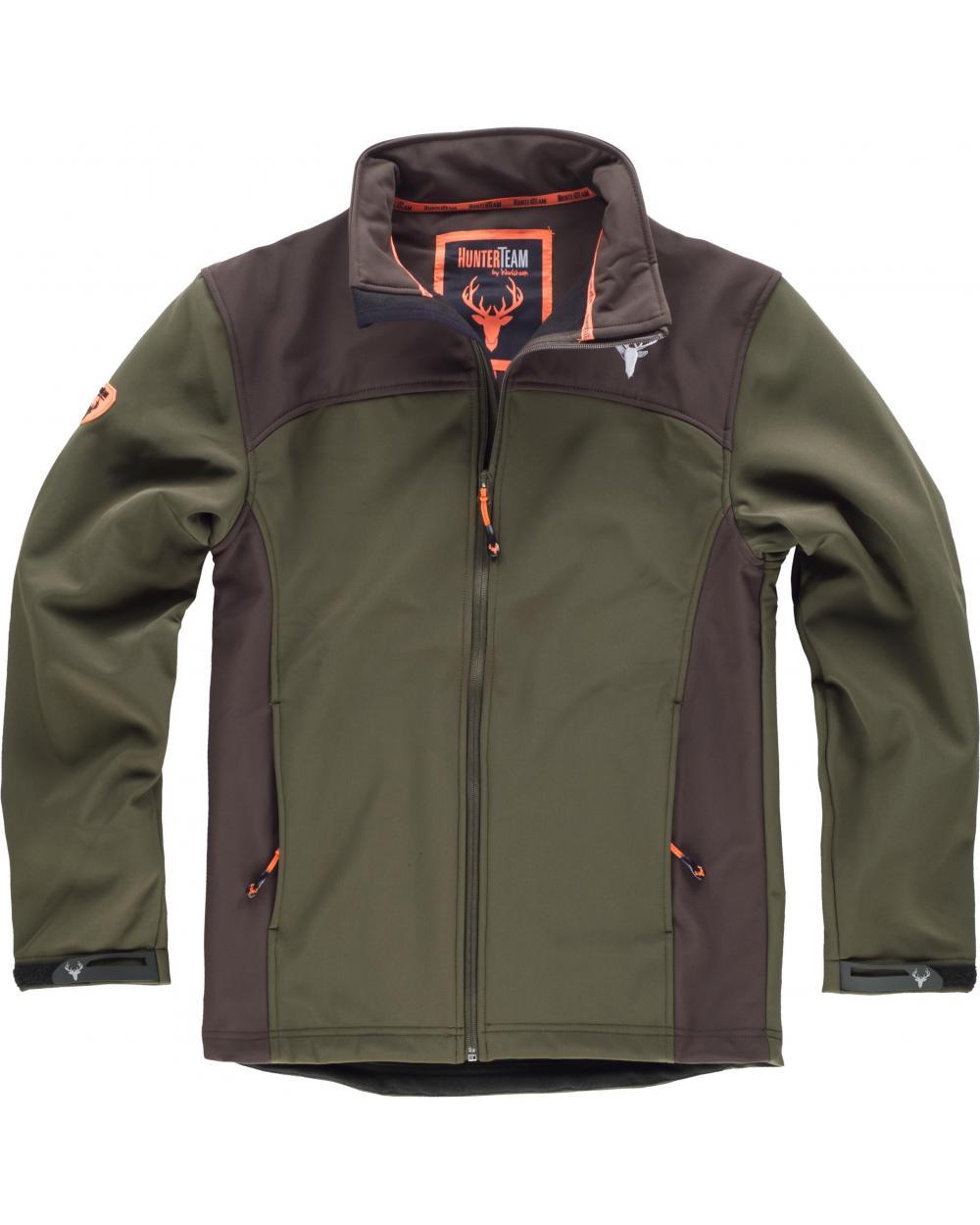 Comprar Chaqueta de caza S8600 Verde Caza/Marron online bataro delante
