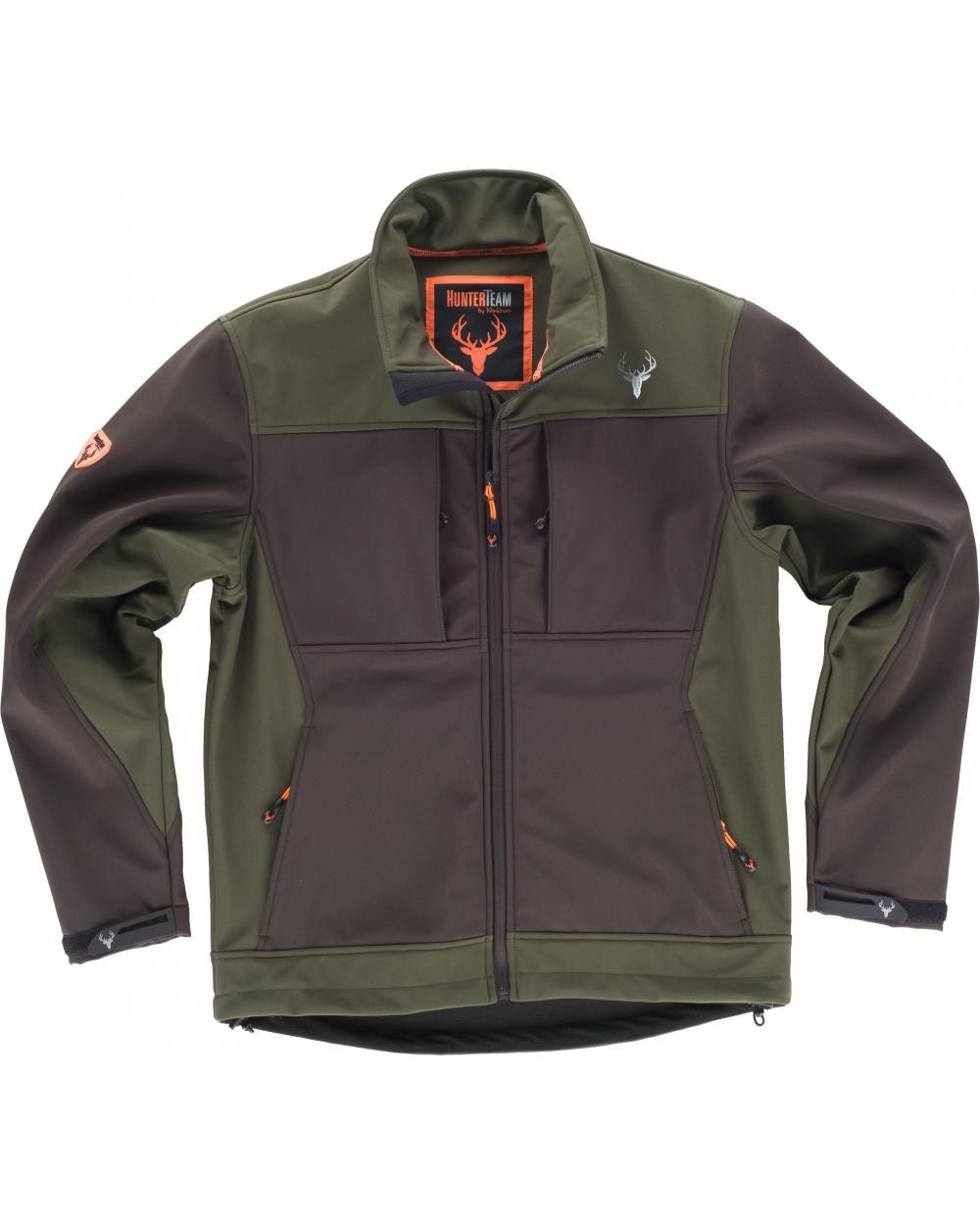 Comprar Chaqueta de caza S8620 Marron/Verde Caza online bataro delante