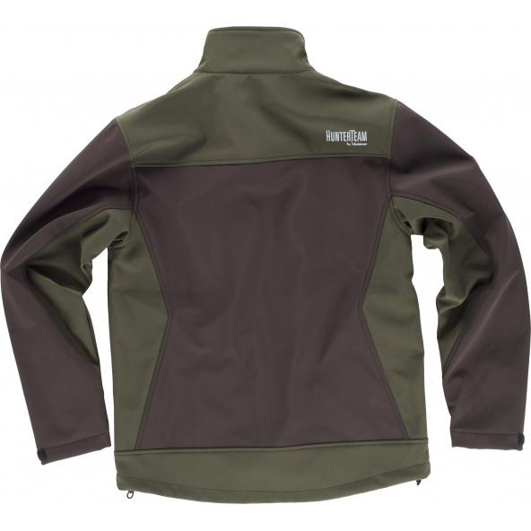Comprar Chaqueta de caza S8620 Marron/Verde Caza online bataro detrás