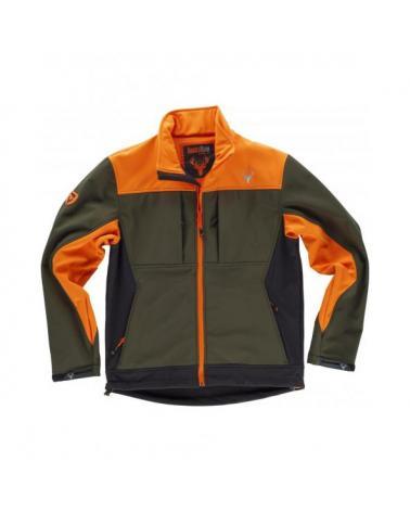 Comprar Chaqueta de caza tricolor S8625 Verde Caza+Naranja A V+Negro online bataro