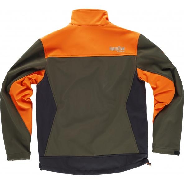 Comprar Chaqueta de caza tricolor S8625 Verde Caza+Naranja A V+Negro online bataro detrás