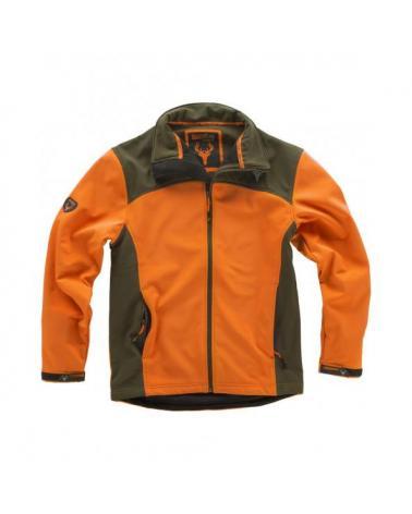 Comprar Chaqueta de caza S8630 (Gorra A.V. de regalo) Naranja AV/Verde Caza online bataro delante