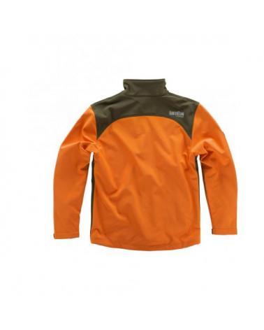 Comprar Chaqueta de caza S8630 (Gorra A.V. de regalo) Naranja AV/Verde Caza online bataro detrás