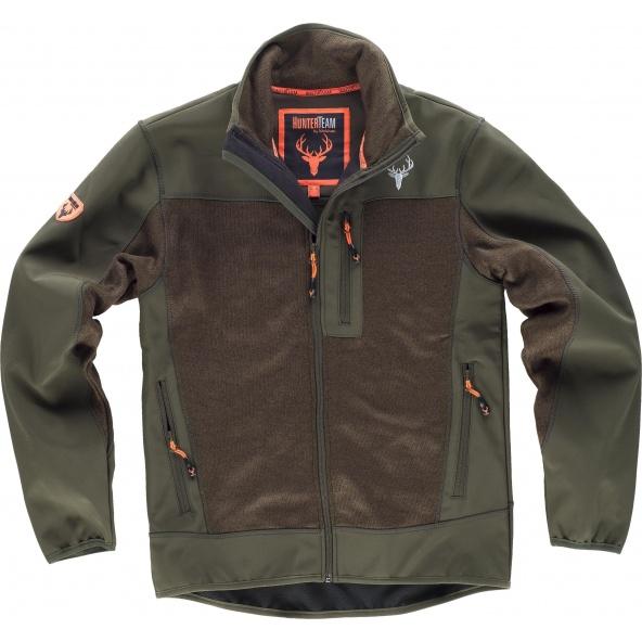 Comprar Chaqueta de caza S8650 Verde Caza/Marron online bataro delante