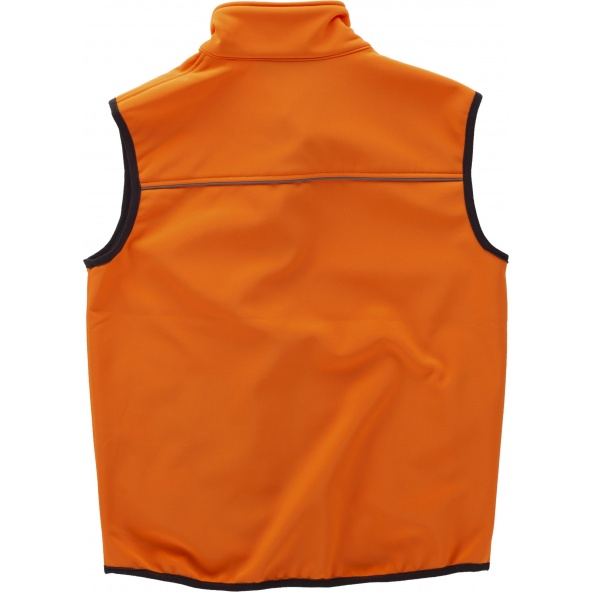 Comprar Chaleco Workshell alta visibilidad (Gorra A.V. de regalo) Naranja A.V. online bataro detrás