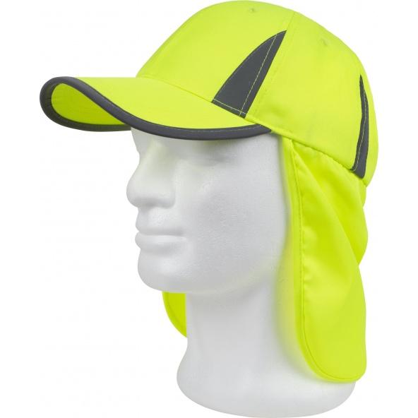 Comprar Gorra Alta visibilidad con protector nuca Amarillo A.V. online bataro