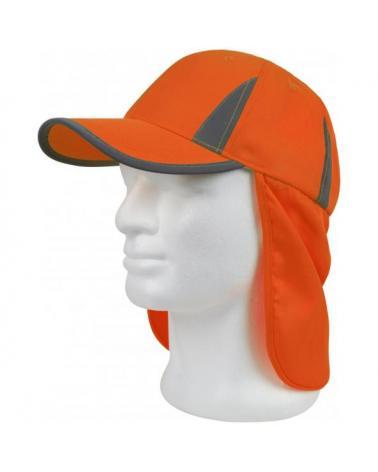Comprar Gorra de caza con protector nuca Naranja A.V. online bataro