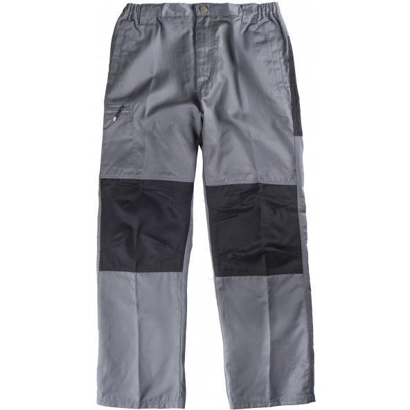 Comprar Pantalon de trabajo combinado B1411 Gris+Negro workteam delante