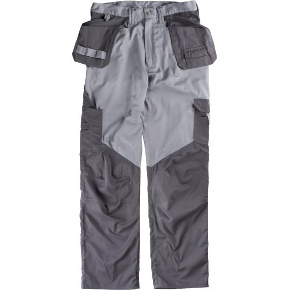 Comprar Pantalon de trabajo multibolsillos B1415 Gris Claro+Gris Oscuro workteam delante
