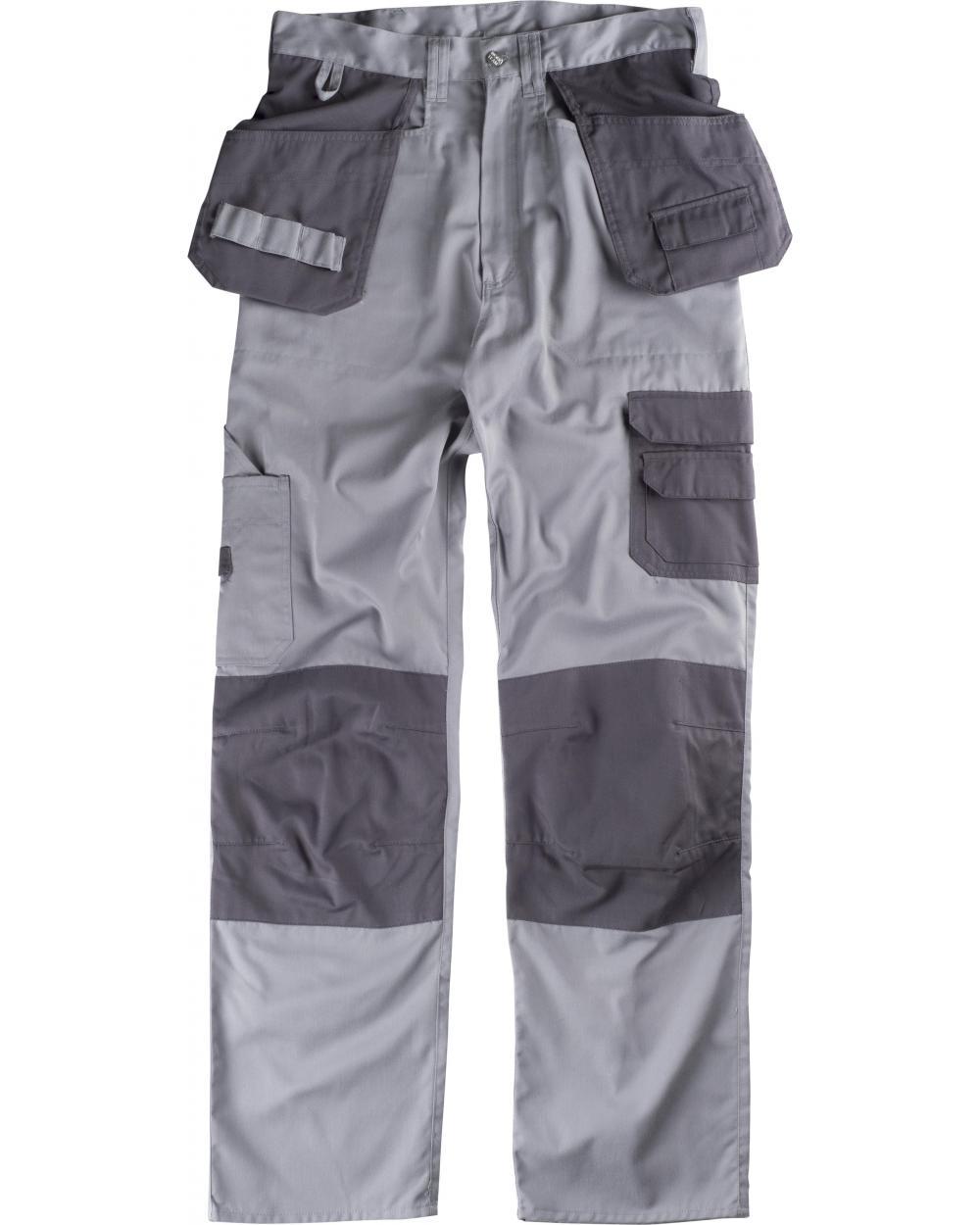 Comprar Pantalon con refuerzos B1419 Gris Claro+Gris Oscuro workteam delante