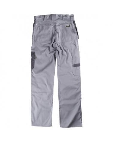 Pantalon con refuerzos B1419 Gris Claro+Gris Oscuro workteam atrás barato