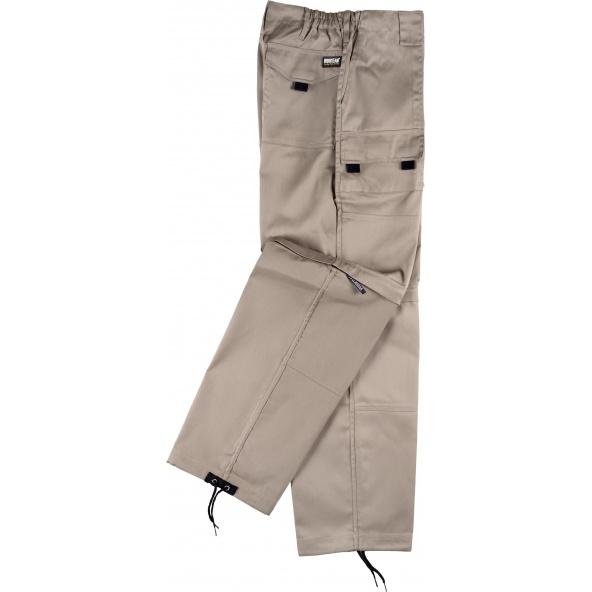 Comprar Pantalon de trabajo desmontable B1420 Beige workteam lado
