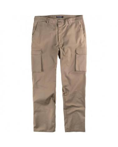 Comprar Pantalon multibolsillos tejido elastico algodon B1421 Beige workteam delante