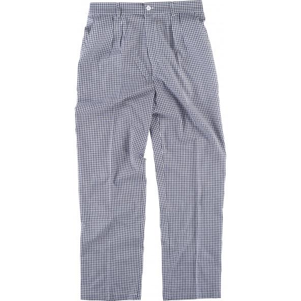 Comprar Pantalon unisex de cocinero B1425 Cuadros Vichi Azul workteam delante