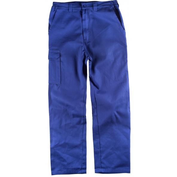 Comprar Pantalon multibolsillos de algodon B1455 Azulina workteam delante