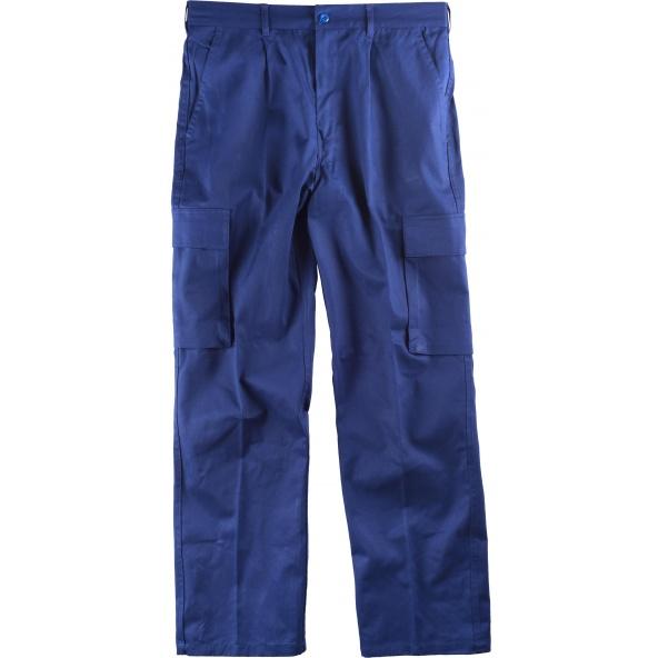 Comprar Pantalon de trabajo de algodon B1456 Azulina workteam delante