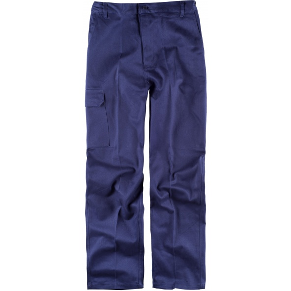 Comprar Pantalon de trabajo de algodon B1457 Marino workteam delante