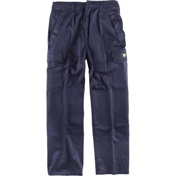 Comprar Pantalon de soldador ignifugo certificado B1490 Marino workteam delante
