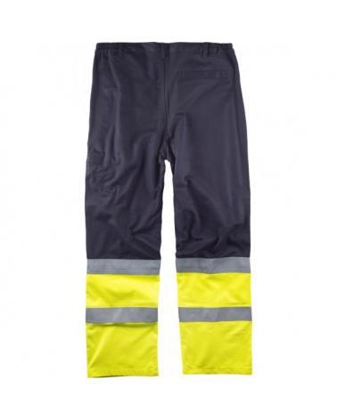 Pantalon ignifugo y antiestatico certificado B1491 Marino+Amarillo AV workteam atrás barato
