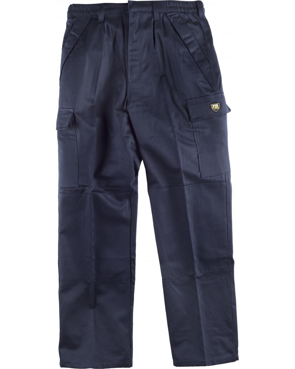 Comprar Pantalon ignifugo y antiestatico certificado B1493 Marino workteam delante