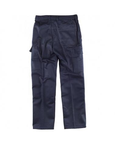 Pantalon ignifugo y antiestatico certificado B1493 Marino workteam atrás barato