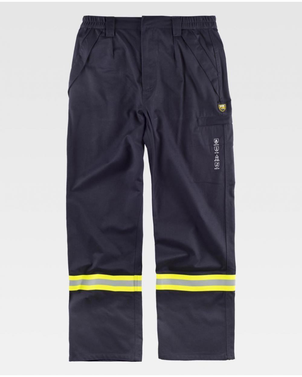 Comprar Pantalon ignifugo y antiestatico certificado B1498 Gris Oscuro workteam delante