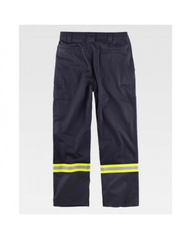 Pantalon ignifugo y antiestatico certificado B1498 Gris Oscuro workteam atrás barato