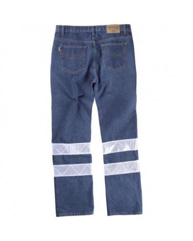 Pantalon vaquero B4007 Vaquero workteam atrás barato
