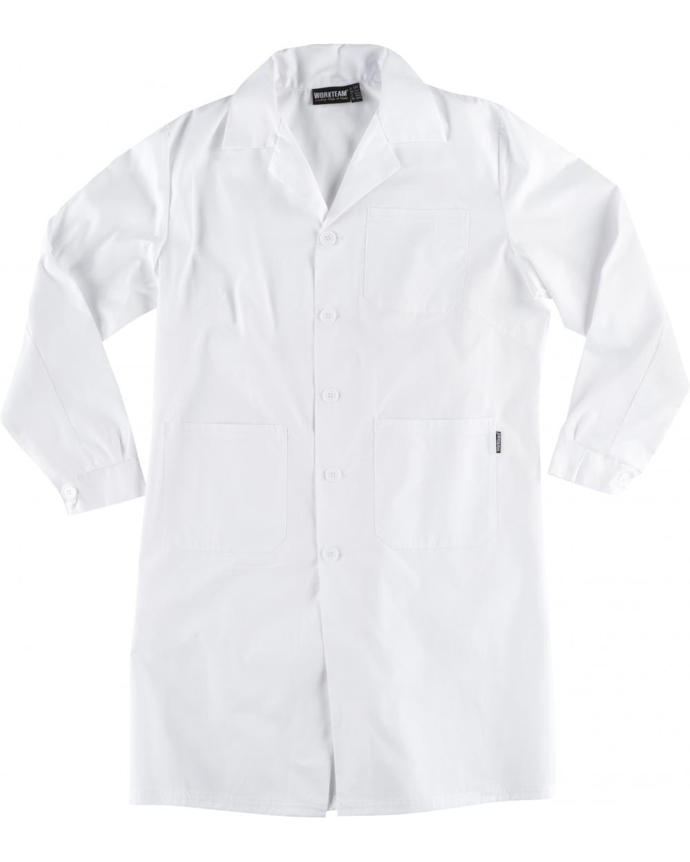Comprar Bata para mujer B6100 Blanco workteam delante