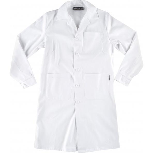 Comprar Bata de algodon para mujer B6111 Blanco workteam delante