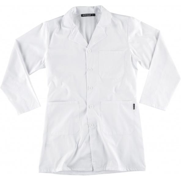 Comprar Bata unisex con botones B6701 Blanco workteam delante