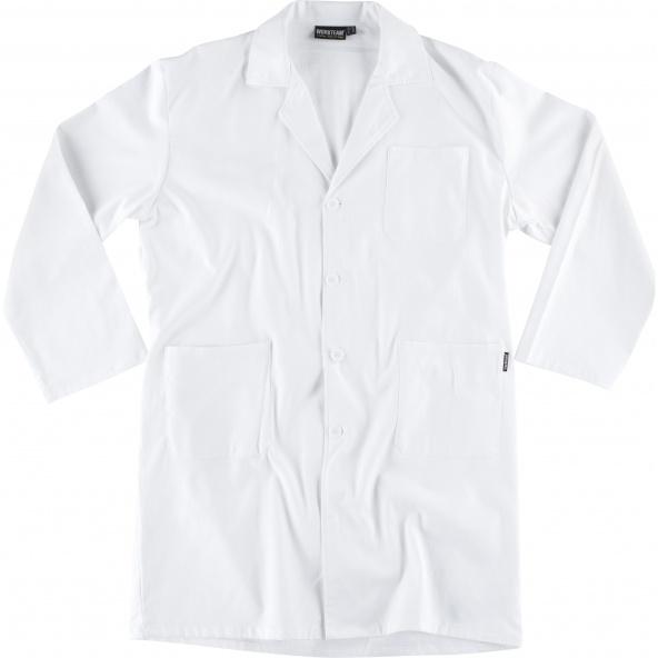 Comprar Bata algodon B7111 Blanco workteam delante