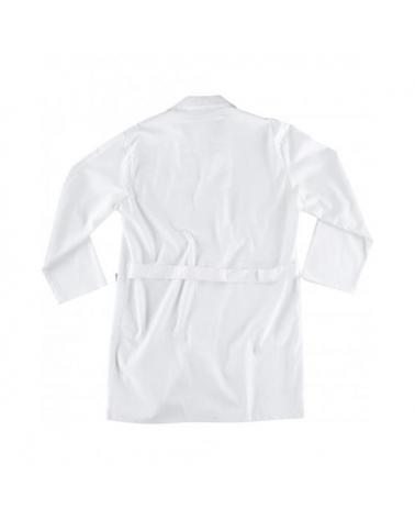 Bata algodon B7111 Blanco workteam atrás barato