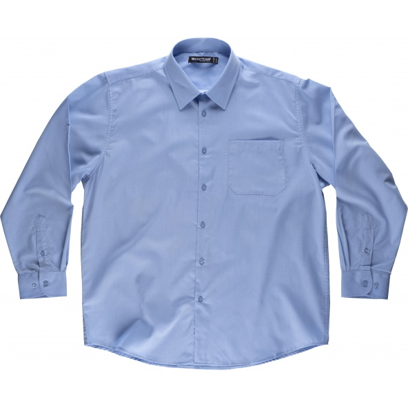 Comprar Camisa manga larga B8000 Celeste workteam delante