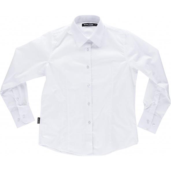 Comprar Blusa camarera B8090 Blanco workteam delante