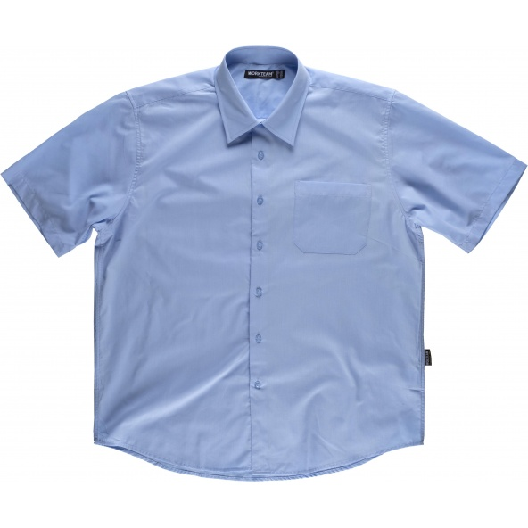 Comprar Camisa manga corta B8100 Celeste workteam delante
