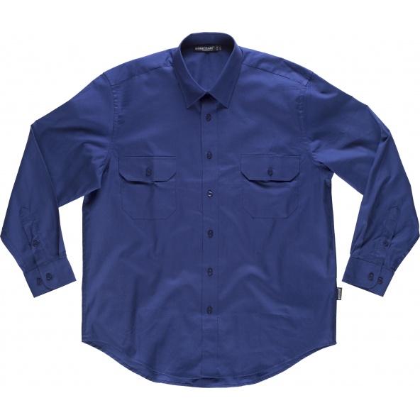Comprar Camisa algodon B8200 Azulina workteam delante