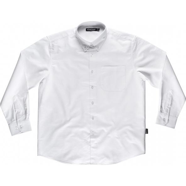 Comprar Camisa algodon oxford B8400 Blanco workteam delante
