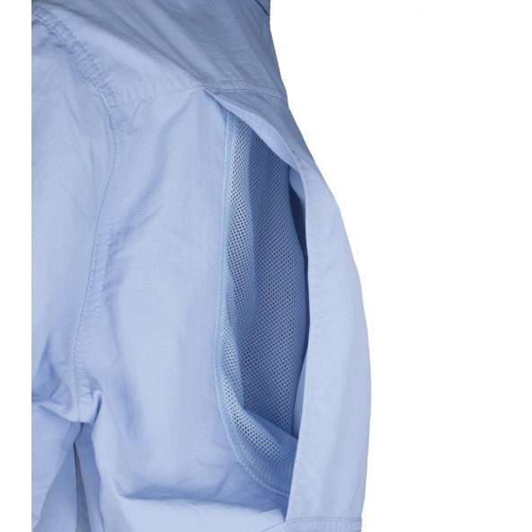Camisa de nylon manga corta B8500 Celeste workteam delante