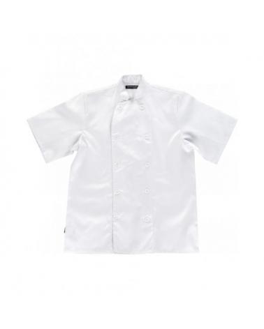 Comprar Casaca manga corta unisex B9001 Blanco workteam delante